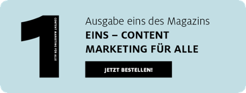 Magazin Eins – Content Marketing für alle