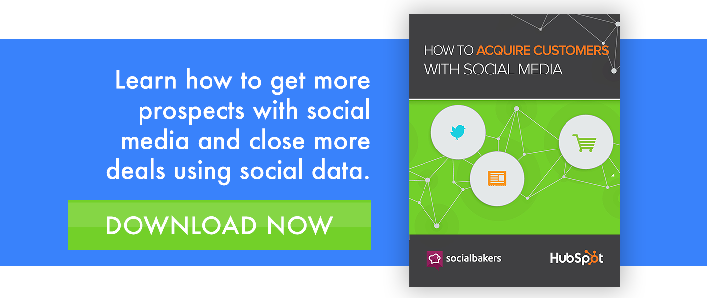 acquire customer with social media ebook CTA from xoombi