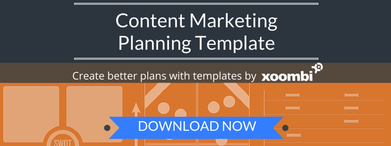 content marketing planning template CTA