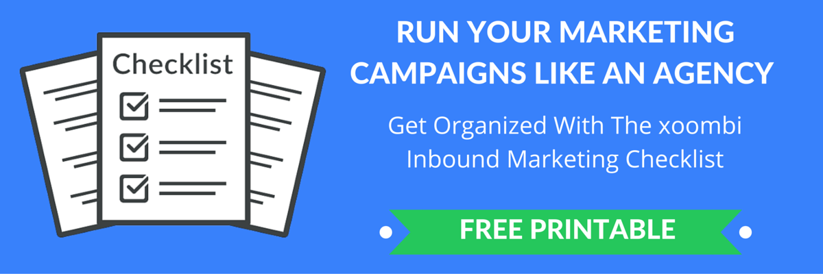 The xoombi inbound marketing checklist
