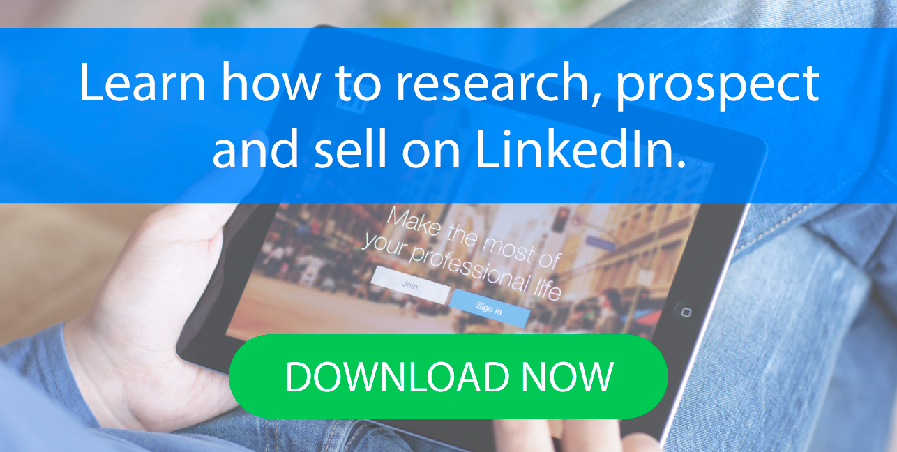 how to sell on linkedin ebook CTA