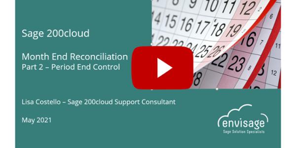 Sage 200cloud Month End - Period End Controls