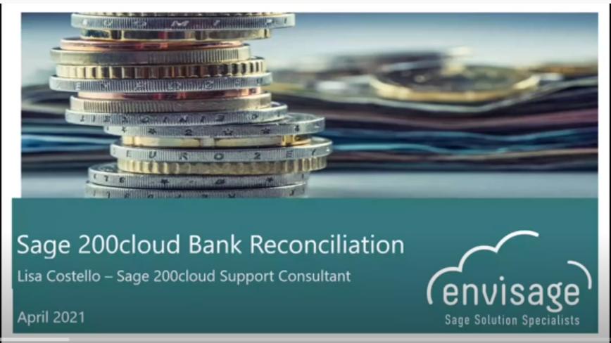 Process your Sage 200cloud Bank Reconciliations