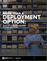 Cloud ERP more than a deployment option
