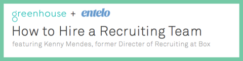 How to Hire a Recruiting Team