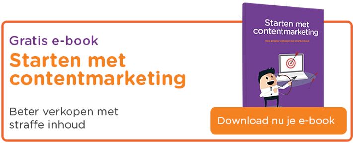 Ebook - starten met contentmarketing
