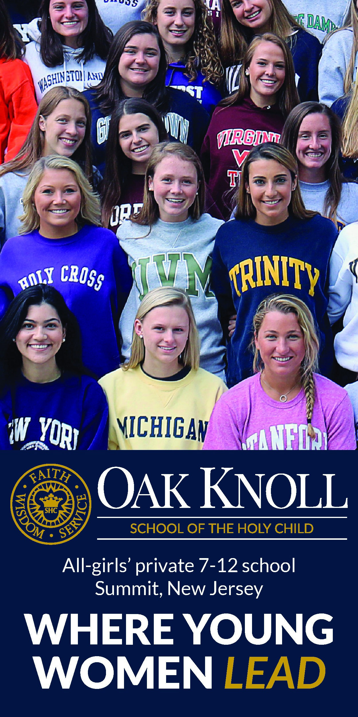 An Upper School ad for Oak Knoll School of the Holy Child