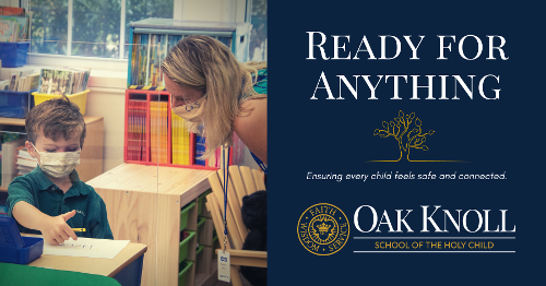 oak knoll is ready for anything button to landing page