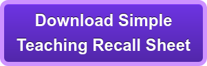 Download Simple  Patient Recall Sheet