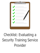 Checklist Evaluating a Security Service Provider