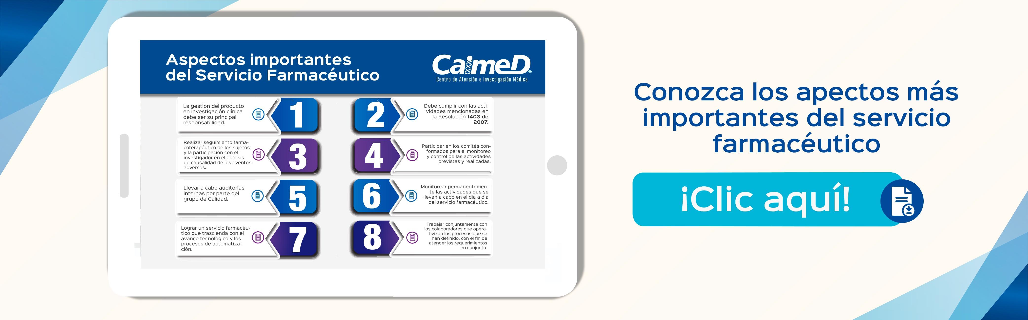 Aspectos importantes del servicio farmacéutico - CAIMED