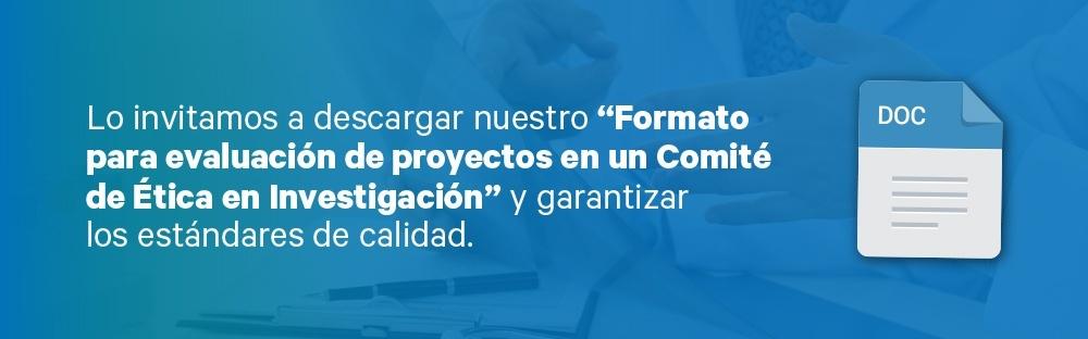 Formato para la evaluación de proyectos en un Comité de Ética