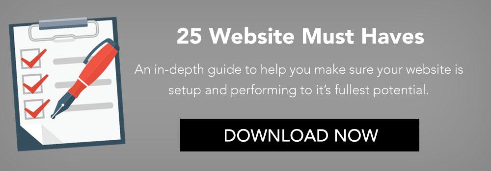 25 Website Must Haves Guide