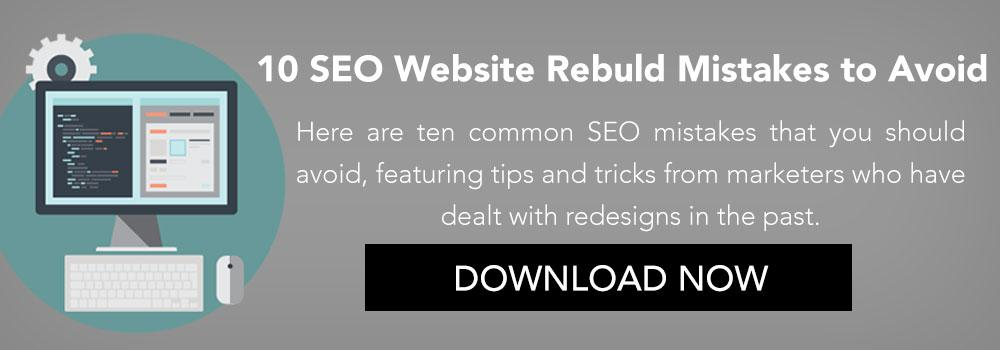 10 SEO Website Rebuild Mistakes to Avoid CTA