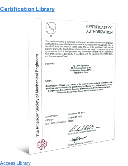 Certification Library Access Library