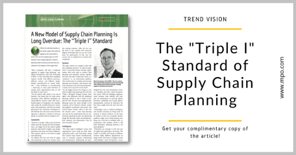 Supply Chain Planning - Trend Vision Article - 2021