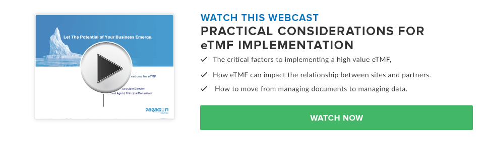 Practical Considerations for eTMF Implementation