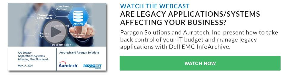 Webcast - Are Legacy Applications Affecting Your Business