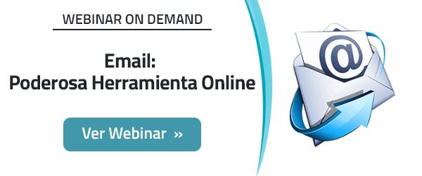 Webinar Email: Poderosa Herramienta Online