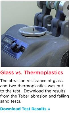 Glass Taber Abrasion Resistance Study