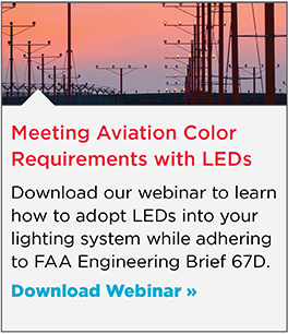 Meeting Aviation Color Requirements with LED Light Sources per FAA Engineering Brief 67D