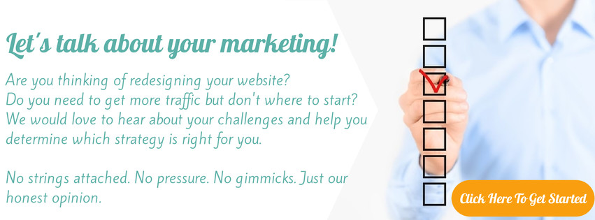 Let's talk about your marketing. Click here to schedule your appointment.