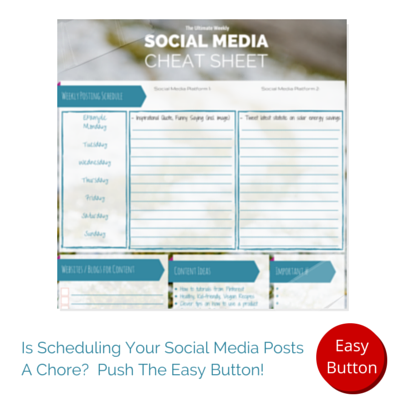 Social Media Cheat Sheet Easy Button