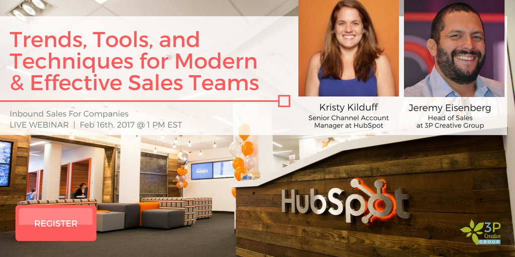 Click here to sign up for the Inbound Sales for Tech Companies Webinar