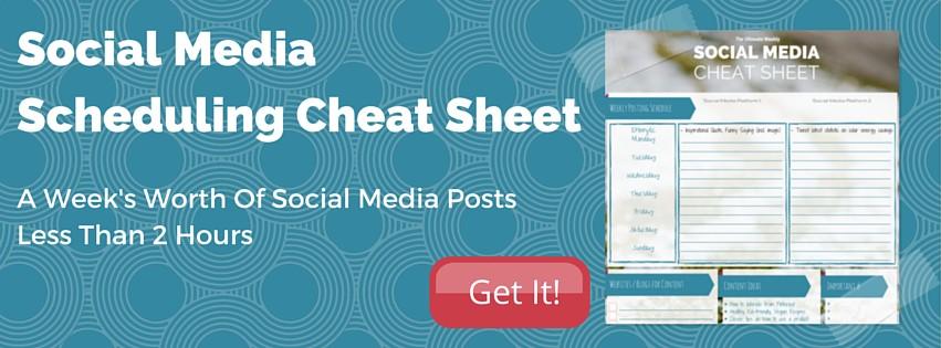 Social Media Scheduling Cheat Sheet