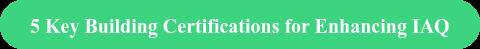 5 Key Building Certifications for Enhancing IAQ