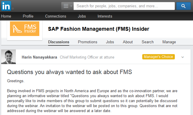 SAP FMS frequently asked questions