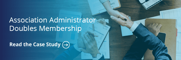 Association Administrator Doubles Membership
