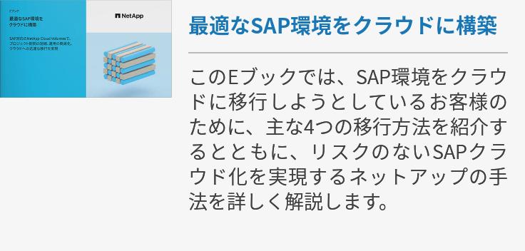最適なSAP環境をクラウドに構築