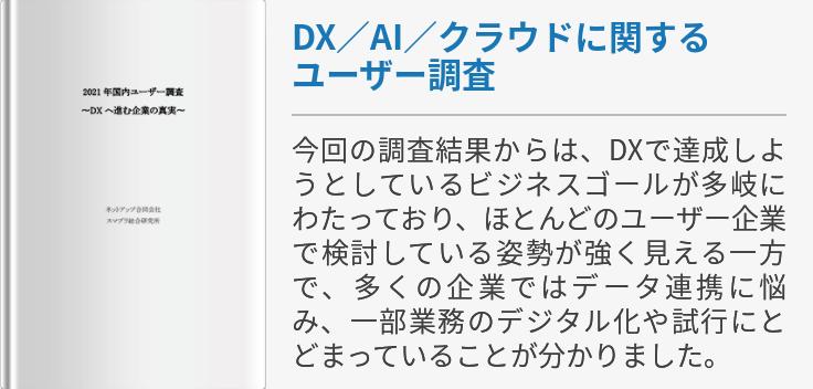 DX/AI/クラウドに関するユーザー調査