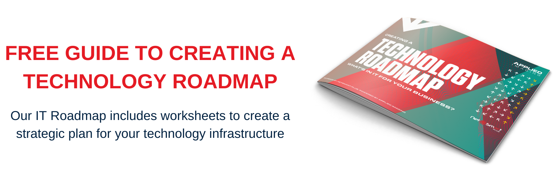 Technology Roadmap eBook Cover and Free Download Offer