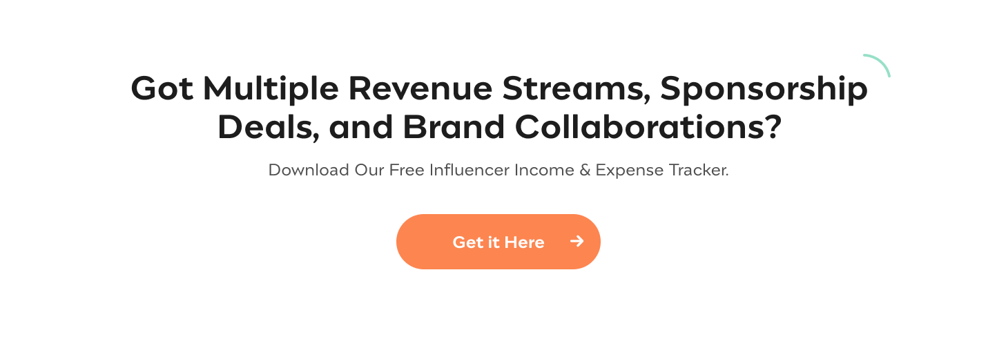 Influencer Income and Expense Tracker } Incfile