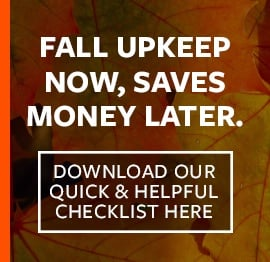 Signs Fall Maintenance Checklist