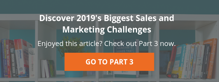 2019 Biggest Dales and Marketing Challenges |