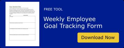 Weekly Employee Goal Tracking Form