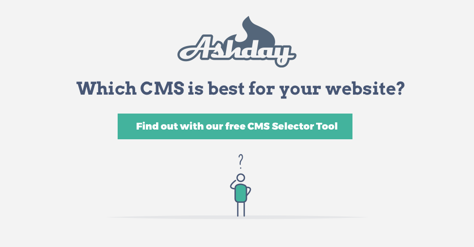 image with text offering access to our free CMS Selection quiz.