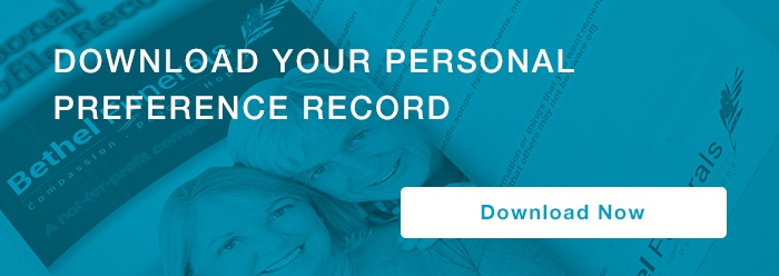 personal preference record call to action