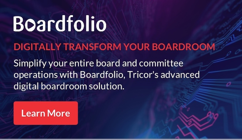 Boardfolio: Digitally transform your boardroom. Learn more here.
