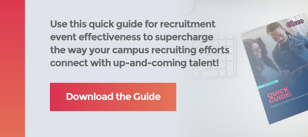 effective recruitment event whitepaper cta