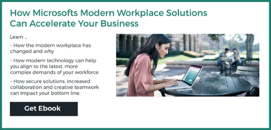 How Microsoft's Modern Workplace Solutions Can Accelerate Your Business