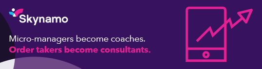 purple Skynamo banner ad micro-managers become coaches