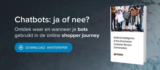 White paper Artificiele Intelligentie en het eCommerce klantenservicegesprek