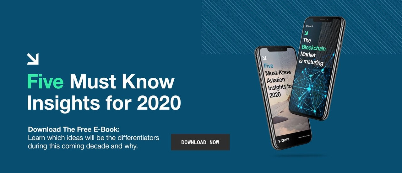 Image of the e-book Five Must Know Insights for 2020 with a download button