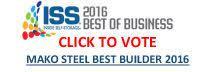 Click to Vote  Mako Steel -Best Builder 2016