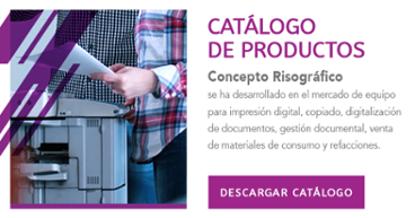 Catálogo de productos - Renta y venta de equipos de impresión digital