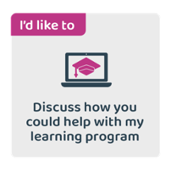 I'd like to discuss how you could help with my learning program